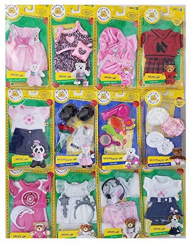 Build A Bear 12-Piece Workshop Items: 9 Dress Me Outfits & 3 Accessorize Me]()