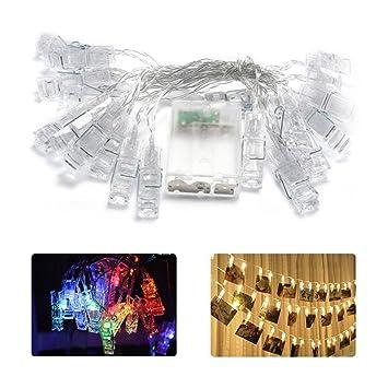 AOLVO - Luces LED para Colgar Fotos, Tarjetas, Notas, Luces parpadeantes, Funciona