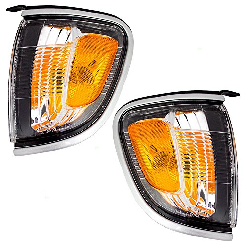 - Driver and Passenger Park Signal Corner Marker Lights with Silver Trim Replacement for Toyota Pickup Truck 8162004090B0 8161004090B0 AutoAndArt