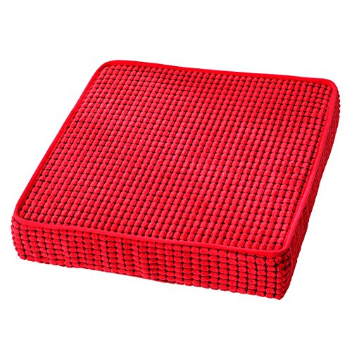 (HyFanStr Memory Foam Seat Cushion Nonslip Chair Cushions Square Sponge Chair Pads Red 18