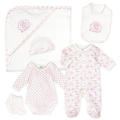 Disney Baby Set niña Blanco Rosa Diseño: Minnie Mouse Equipamiento ...
