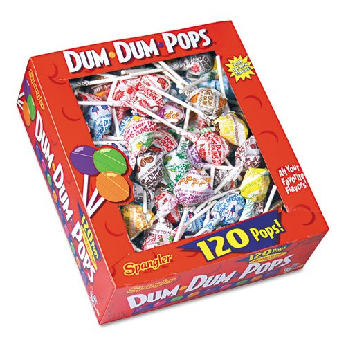 - Spangler Candy Co 66 Dum-Dum-Pops, Assorted Flavors, Individually Wrapped, 120 Count Box
