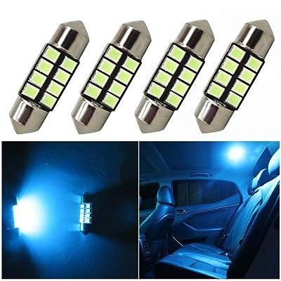 WLJH 4 Pack 12V DE3175 31mm Car Interior Light Bulb Festoon Courtesy Dome Lamp LED Light Replacement Festoon 31mm Bulb For 1998-2011 Honda CR-V (Ice Blue 2835 Led Chip): Automotive