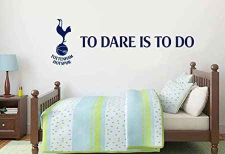 Tottenham hotspur football club official spurs to dare is to do wall sticker 120cm width