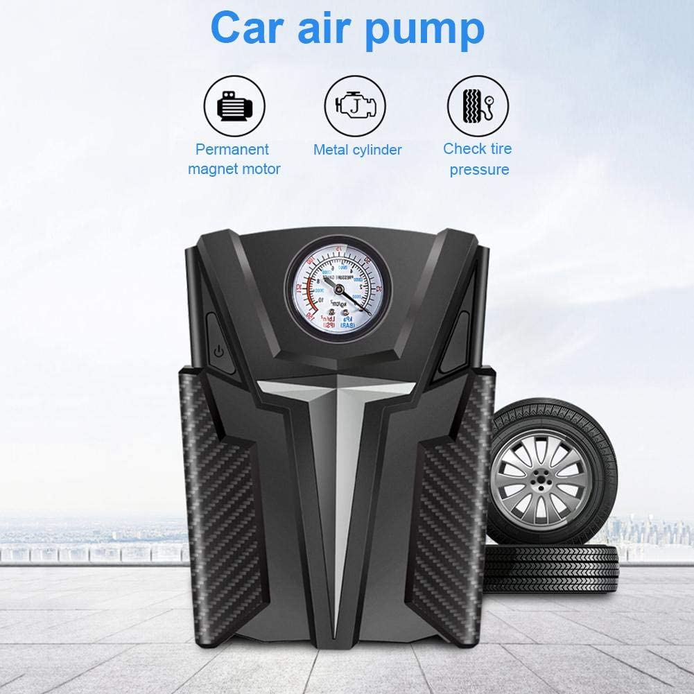 Digital Tire Inflator Portable Air Compressor with Rechargeable Li-ion Battery for Car Bicycles Motorcycle Tires Basktball 12V
