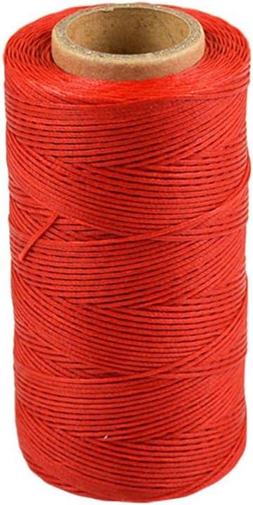 Szaerfa Costura de hilo encerado 260m de cuero 1MM para cincel Awl zapatos conjunto de equipaje (rojo)