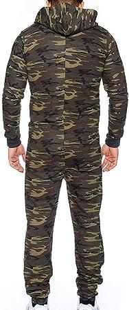 JiaMeng Mono Unisex Prenda de una Pieza Sin pie Pijama Traje Blusa Sudadera Abrigo de Traje de Invierno para Hombre Invierno