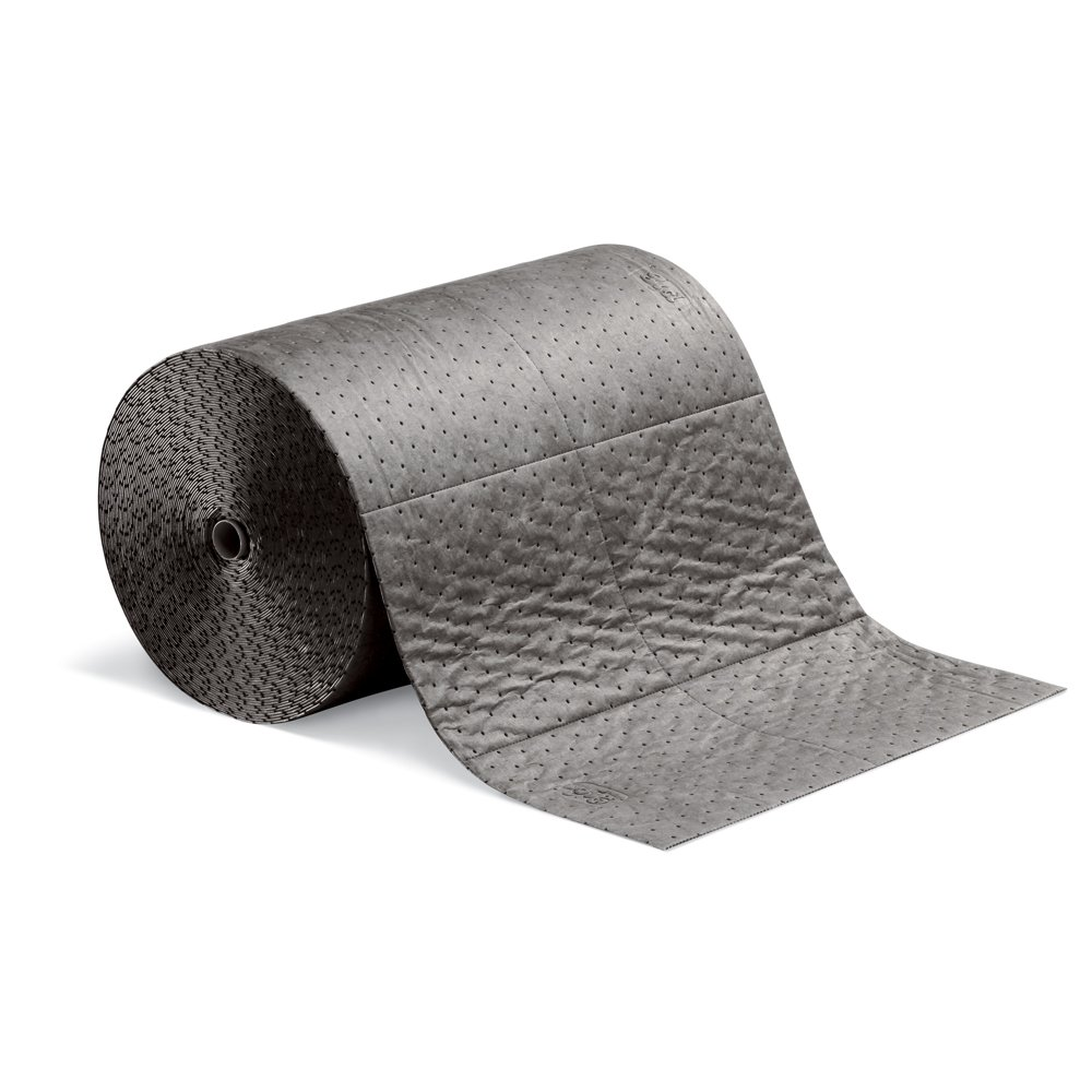 New Pig Absorbent Mat Roll, Absorbs Oil and Water, Heavyweight, 32-Gallon Absorbency, 150' x 24'', (1 Roll), MAT202-01
