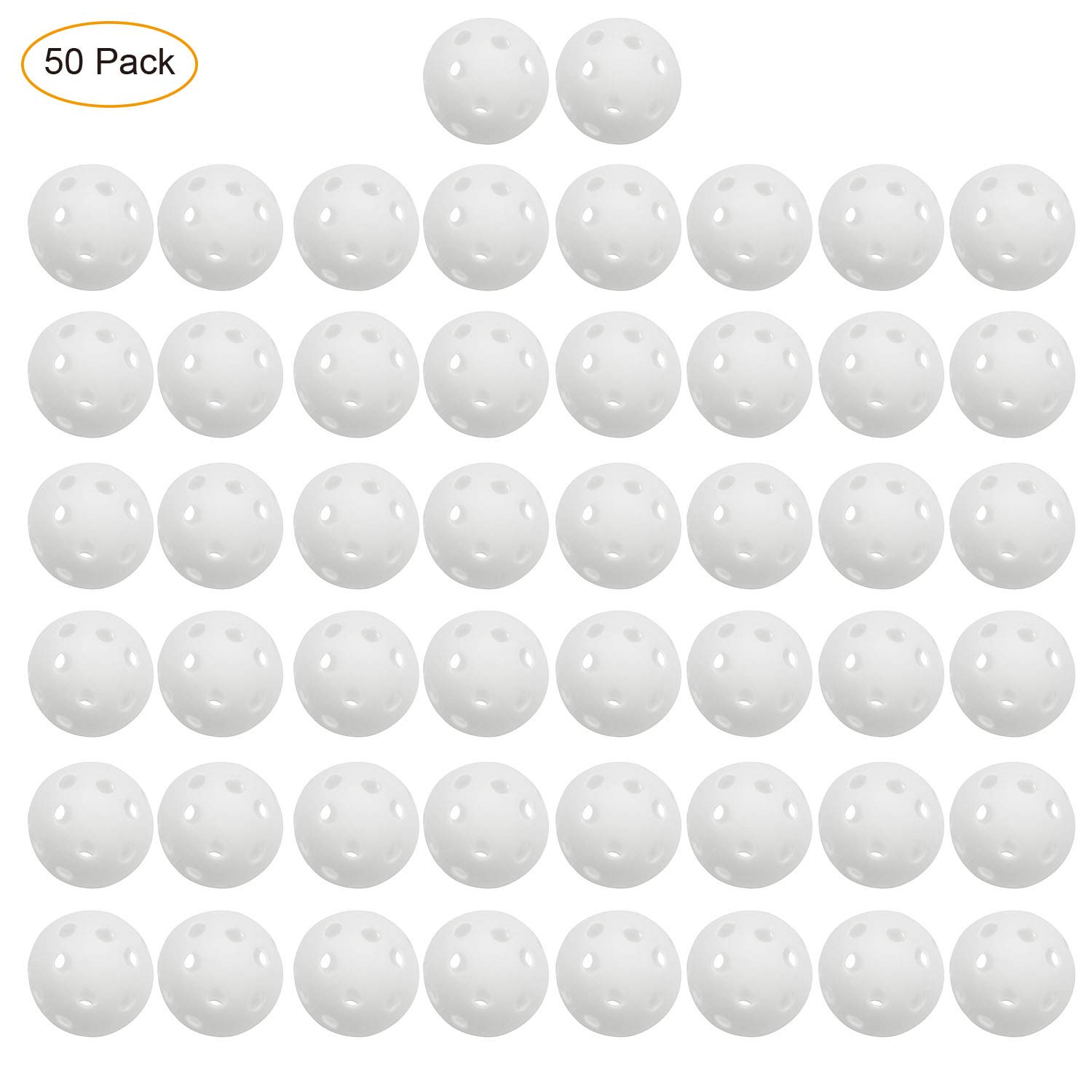 Fantaxdic 50 Pack Plastic Golf Training Practice Balls by Fantaxdic