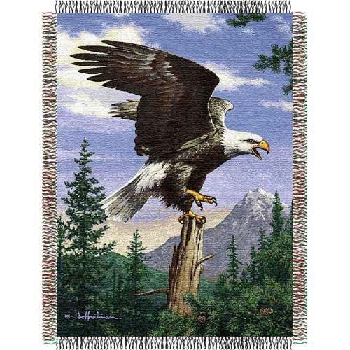 Northwest Hautman Bros Eagle Perch Triple Woven Jacquard Throw ()