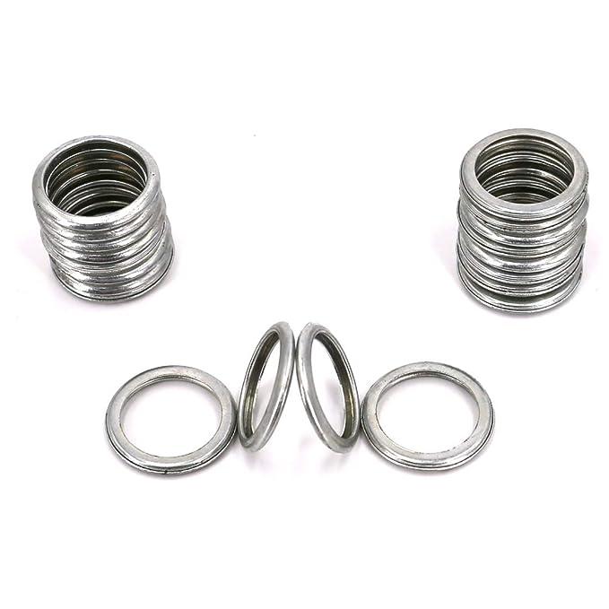 20 Pcs UTSAUTO M16 Oil Drain Plug Gaskets Crush Washers Sealing Washers Rings 803916010 for Outback Crosstrek Forester WRX BRZ Impreza