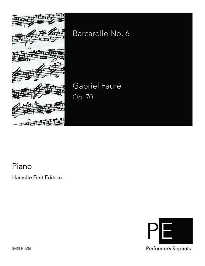 Download Barcarolle No. 6 in E-flat, Op. 70 pdf epub
