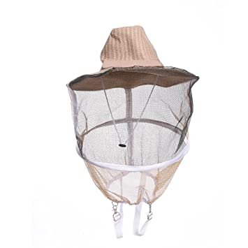 UWAYK Professional Beekeeping Hat Beekeeper Cowboy Hat Anti Mosquito Bee  Insect Veil Net Hat Full Face Neck Wrap Protector One Size  Amazon.co.uk   Garden   ... 6a2624795587