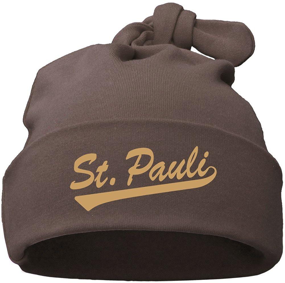 ST. PAULI Babymü tze Einzelknoten chocolate 48083