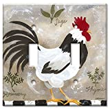 Art Plates - Double Gang Toggle OVERSIZE Switch Plate/OVER SIZE Wall Plate - Jennifers Rooster
