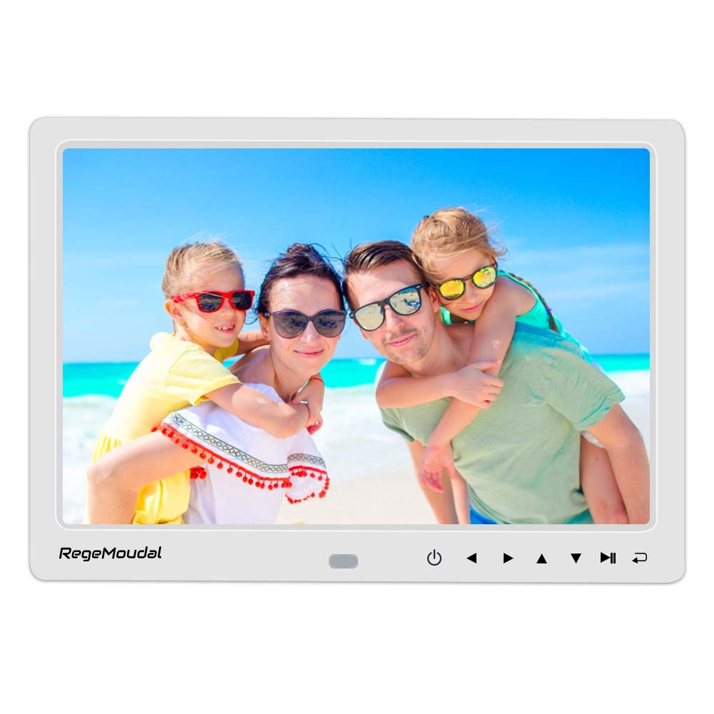 NIX Lux 13 Inch Digital Picture Frame - Full HD IPS Display Auto-Rotate Remote Control Wood Motion Sensor