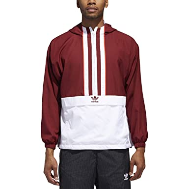0b306591bf3b adidas Men s Originals Anorak Jacket Noble Maroon dj2853 at Amazon ...