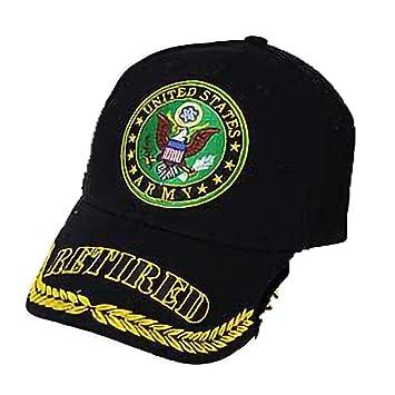 Ejército de los Estados Unidos Jubilado Gorra Tapa Negro EE. UU ...