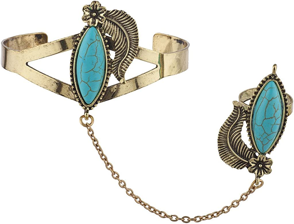 Lux Accessories Stone Cuff...