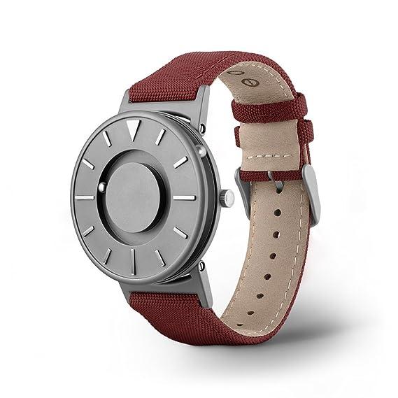 Leder Bradley Armband Classic Unisex Crimson Stoff Eone Uhr zGpSMqUV