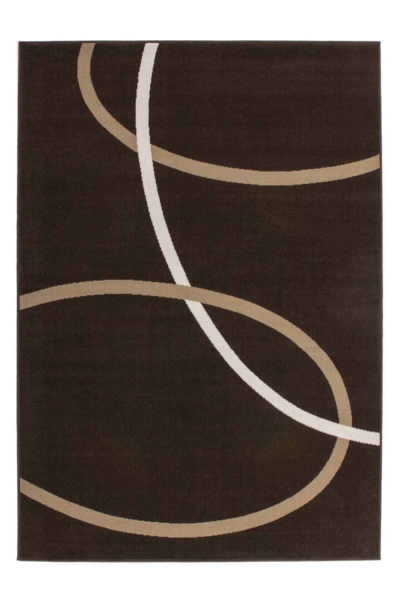 Kayoom 4056216454560 Teppich, 100% Polypropylen, Mokka, 150 x 80 cm 6WLSI-80-150