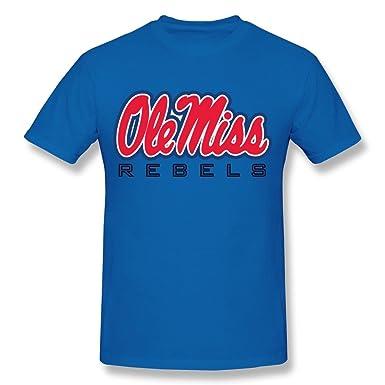 Amazon Com Sala Men S Ole Miss Rebels Logo T Shirts S Royalblue