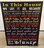In This House We Do Disney Fairy tale Inspired Wood Sign