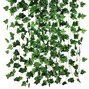 Allen R Floyd 84 Feet 12 Strands Artificial Flowers Greenery Fake Hanging Vine Plants Leaf Garland Hanging for Wedding Party Garden Outdoor Office Wall Decoration 109