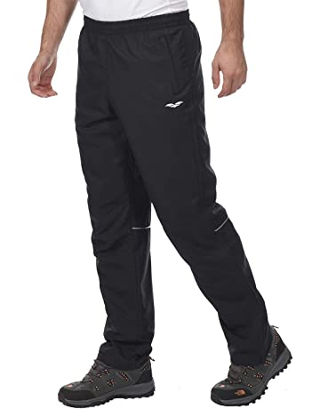 b590b310b MIER Men's Sports Pants Warm-Up Pants with Zipper Pockets for Workout, Gym,