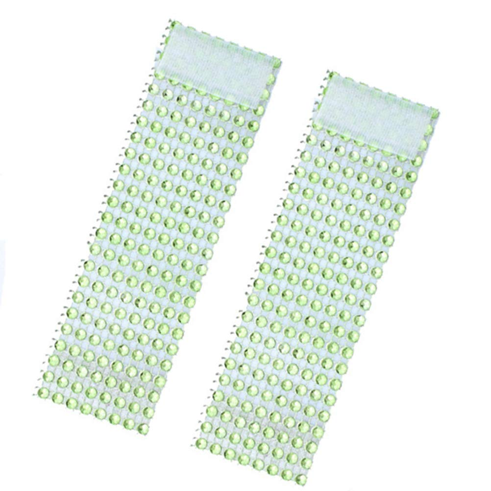 YeahiBaby 50PCS Rhinestone Napkin Ring Serviette Buckle Holder Christmas Wedding Party Dinner Table Decoration Green