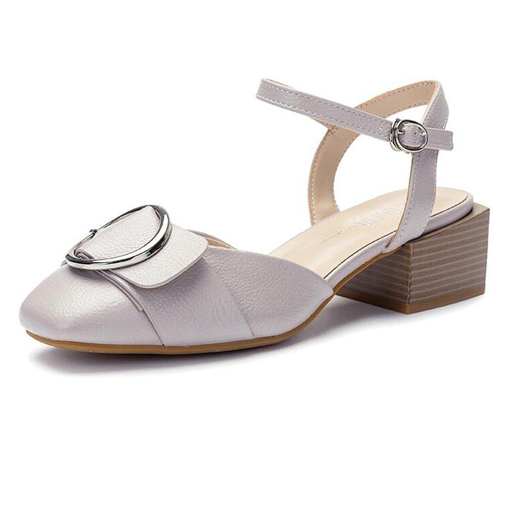 Frühling Koreanische Version Mit Dicken Mit Einem Student Schnalle Einzelne Schuhe Weiblich (Farbe   Hautfarbe größe   34)