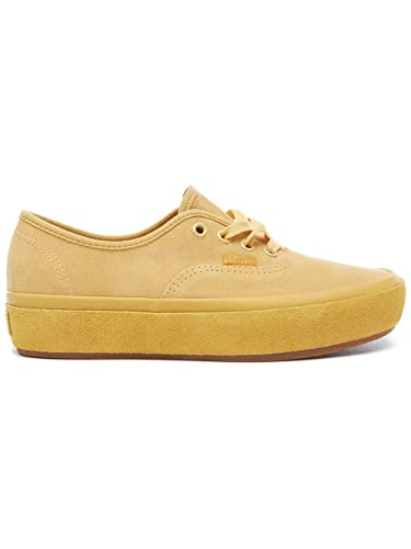 34cd79ee246f Vans Womens Ochre Yellow Authentic Platform Trainers-UK 3  Amazon.co ...