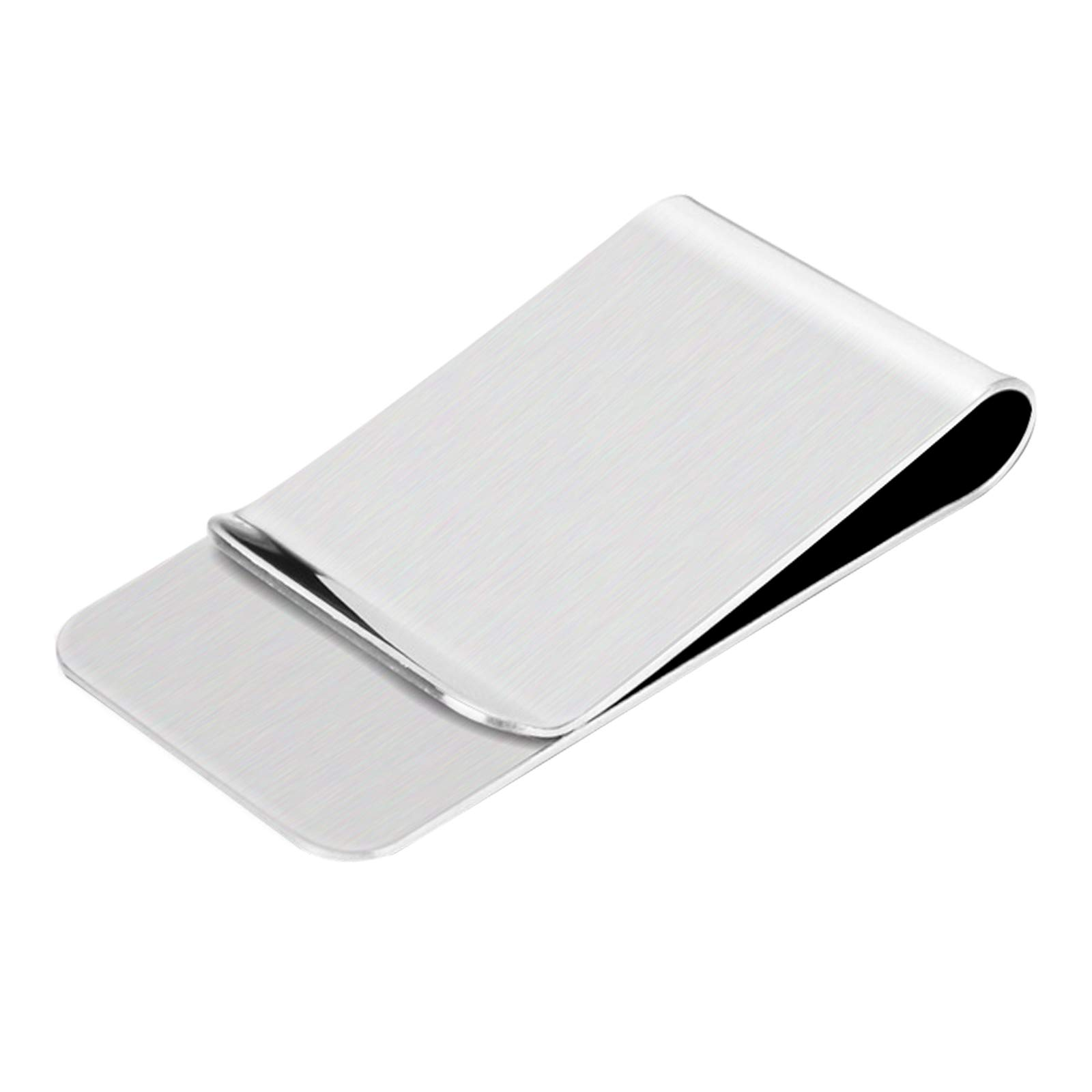 TAZEMAT 10pcs Silver Money Clips Metal Cash Clip Slim Stainless Steel Credit Card Holder for Men and Women Durable Portable Lightweight Luxurious Polished Notes Bills Invoice Holder 5.1CM