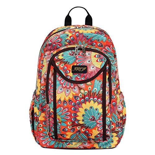 JFT - Bolso mochila  para mujer azul azul rosa