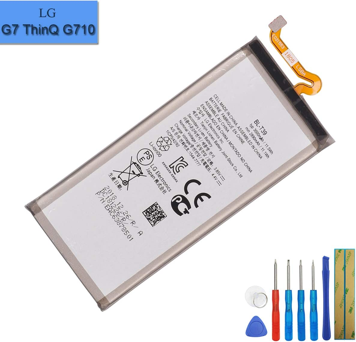 New Replacement Battery BL-T39 Compatible with LG G7 ThinQ G710 Q7 G7 Plus ThinQ G710EM G710N with Tools