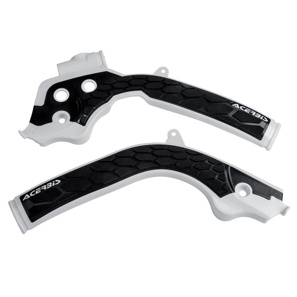Acerbis X-Grip Frame Guards White/Black - Fits: Husqvarna FC 450 2016-2018
