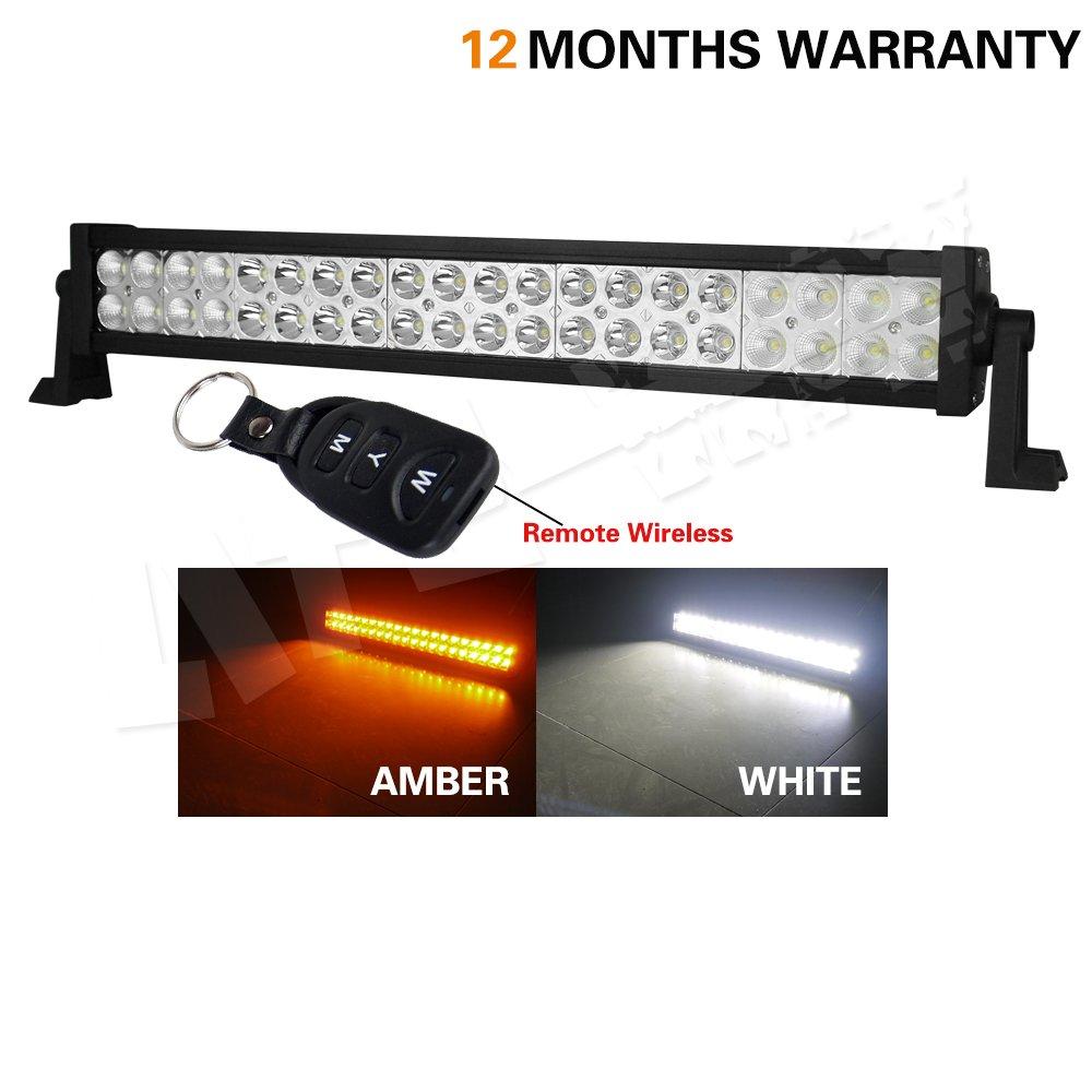 Amazon.com: LITEWAY 120W Amber White LED Work Light Bar Spot Flood ...