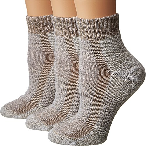 Thorlos Women's Light Hiking Mini Crew Walnut Socks LG (Women's Shoe 9.5-11.5)