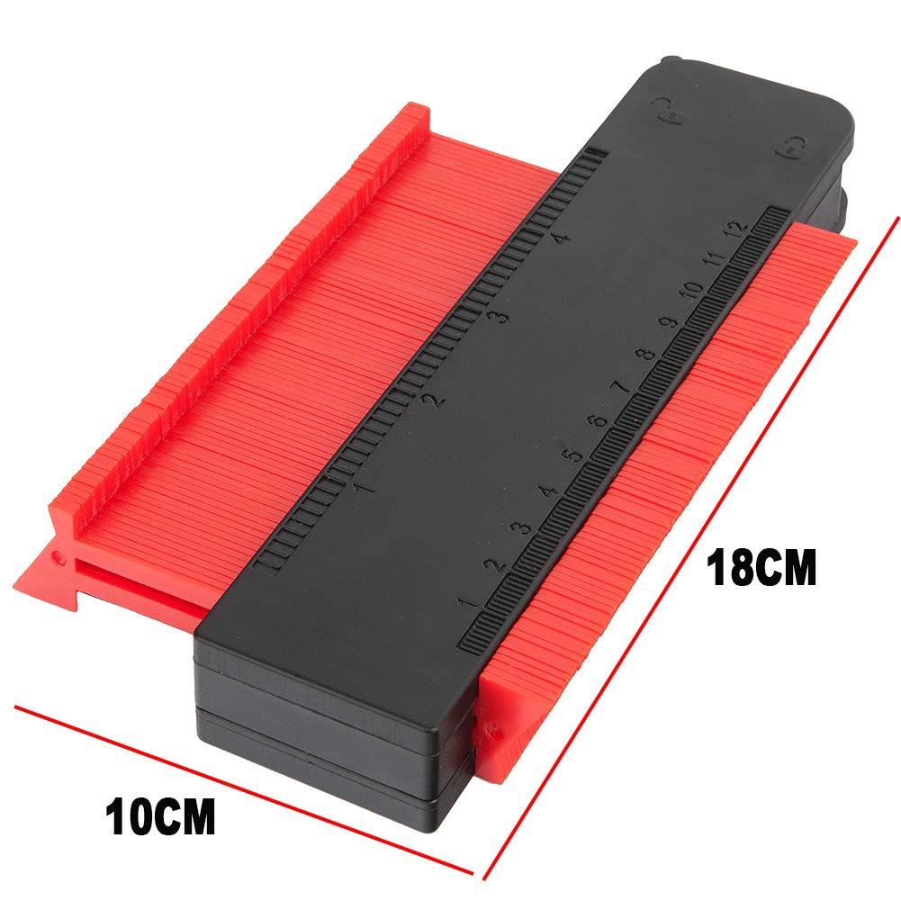 Medidor de contornos para marcos circulares 10 pulgadas//25 cm Yimorex