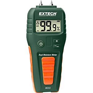 EXTECH MO55 - Combination PIN/PINLESS Moisture Meter