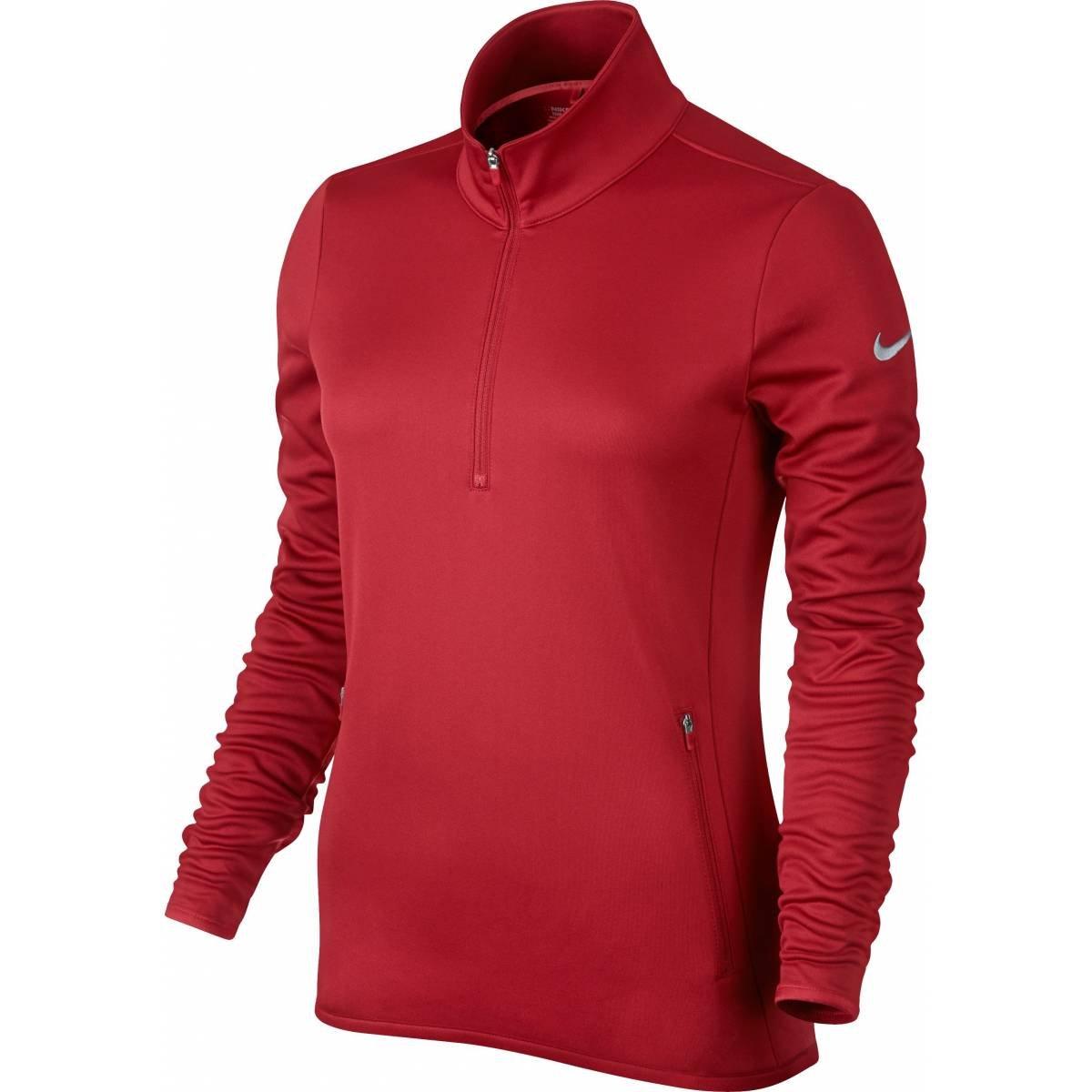 Nike Thermal 1/2 Zip Golf Pullover 2015 Ladies University Red XX-Large