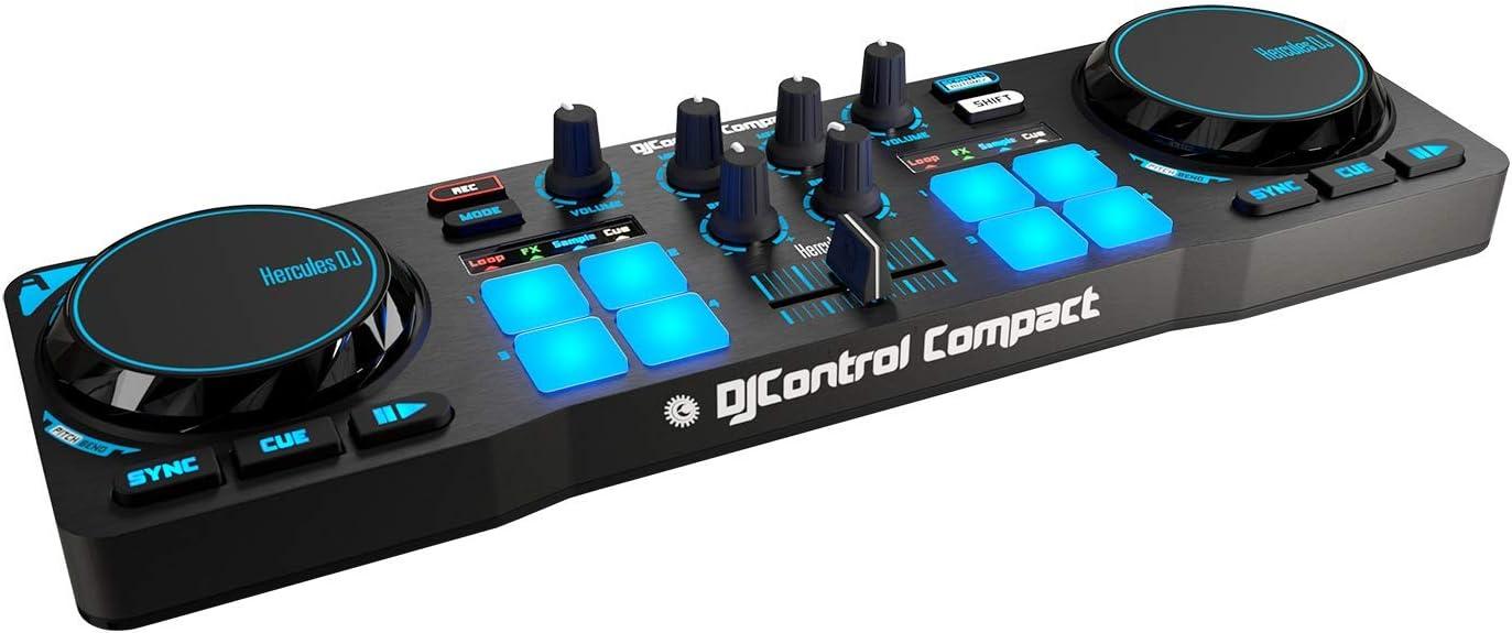 Hercules - DJCONTROL Compact - Controlador DJ - PC/Mac: Hercules: Amazon.es: Electrónica