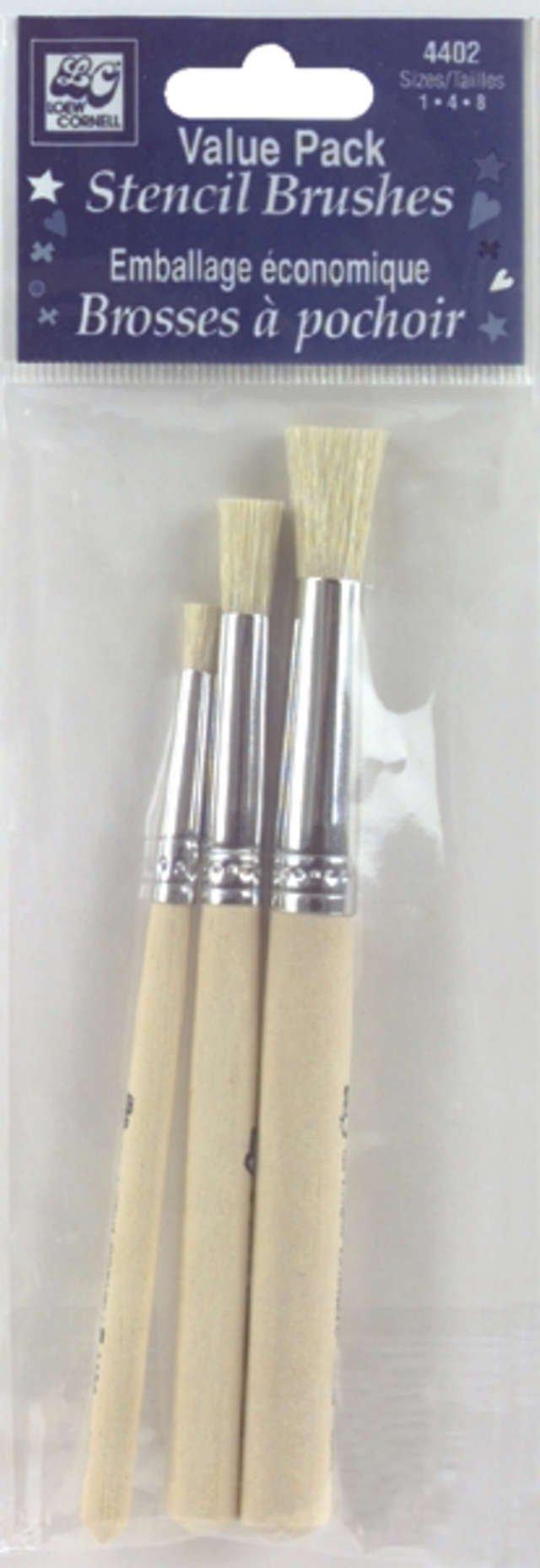 Loew-Cornell 4402 Bristle Stencil Brush Set by Loew-Cornell