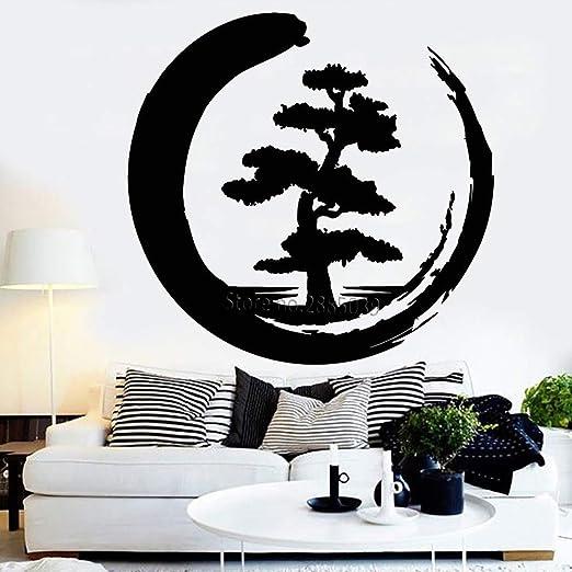 Baobaoshop Meditación Estilo Zen Diseño Árbol Grande Vinilo ...