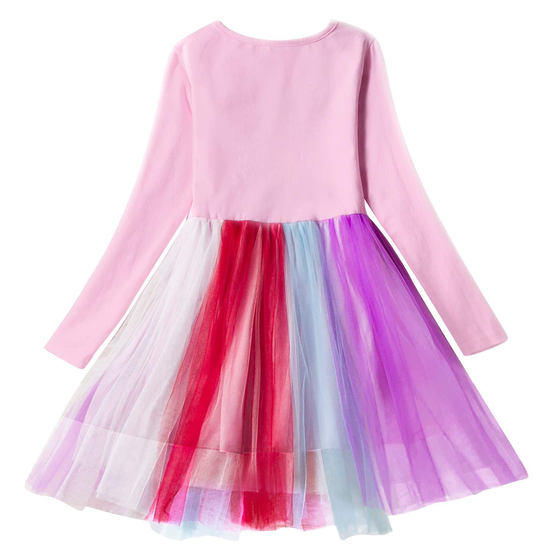 75e0f8c7bf74 Amazon.com: Jellyuu Toddler Girls Unicorn Sparkling Long Sleeve Tutu  Sequins Dress: Clothing