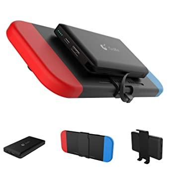 GuliKit Bateria Externa 10000mAh Power Bank para Nintendo Switch, 2 Puerto de Salida(USB