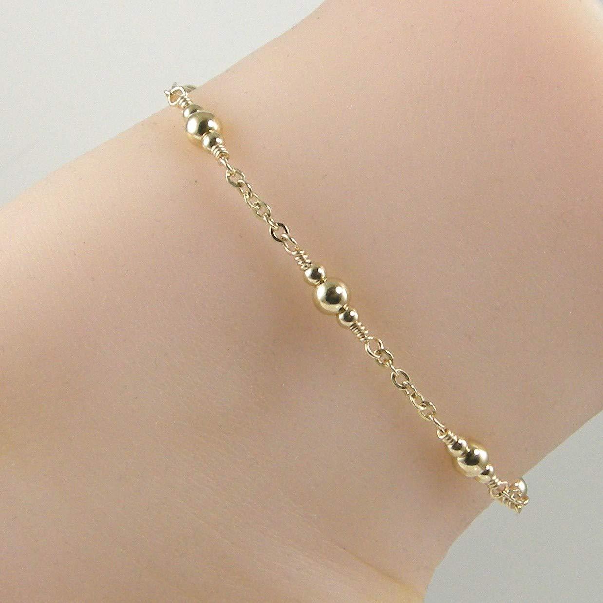Gold Chain Gold Bead Ankle Bracelet Gold Anklet
