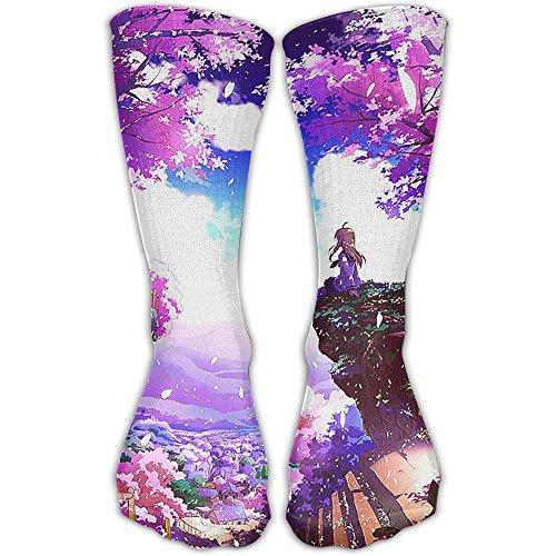 Sakura Girl Athletic Soccer Tube Socks Novelty Fashoin Socks For Adult Celebration 11 Inch (Spaniel Brown Hoodie)