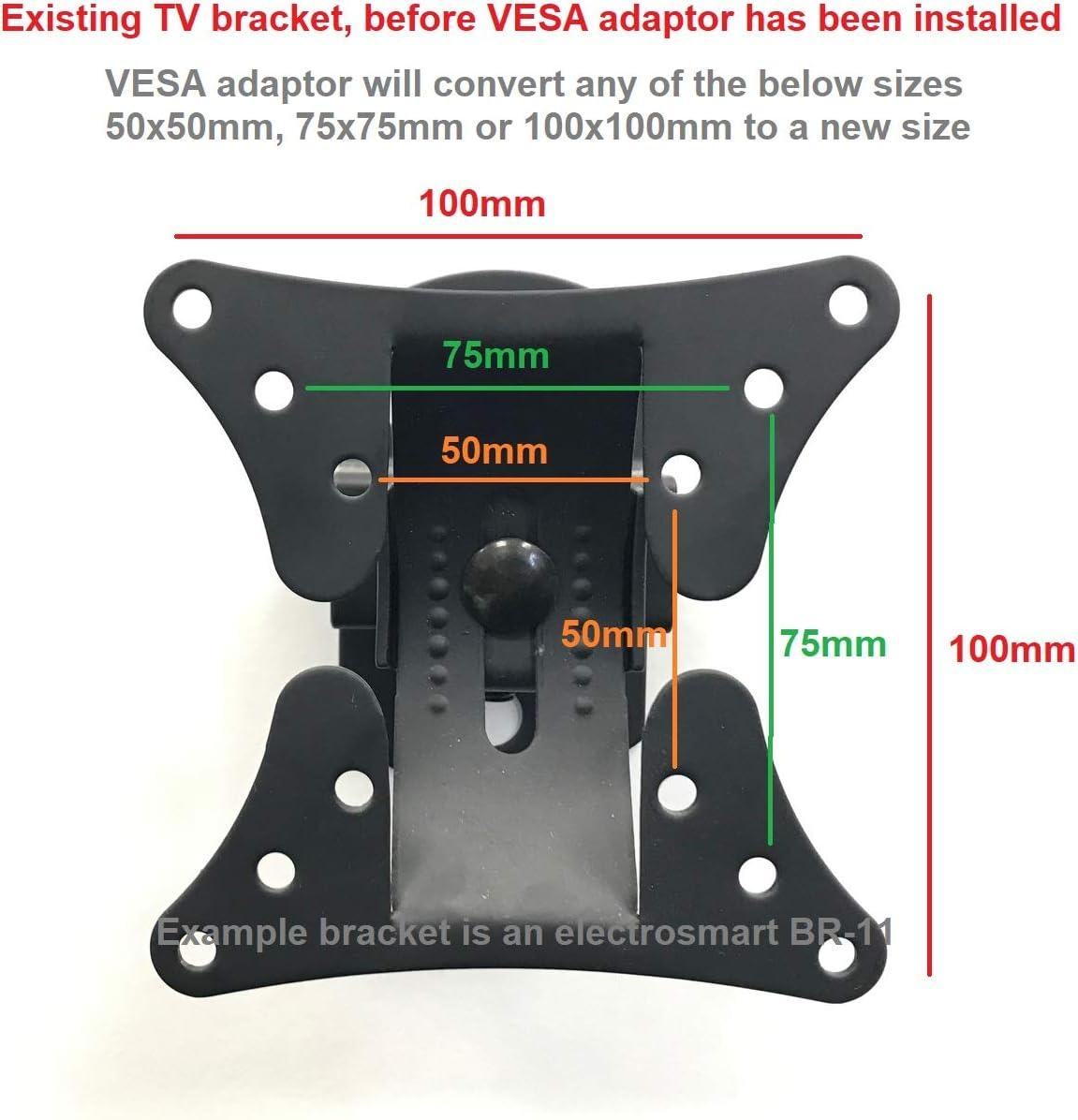 Vesa 200 X 200 Adaptor Nipple Plate Black Mount By Elektronik