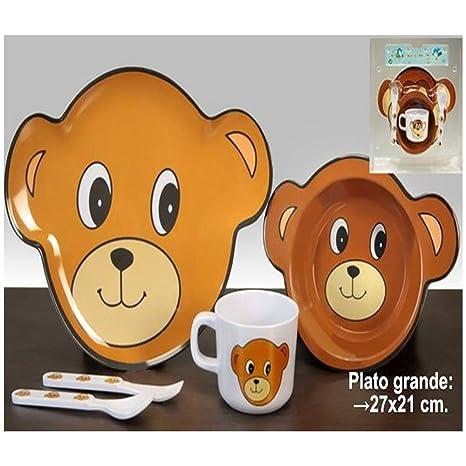 Vajilla infantil oso: Amazon.es: Bebé